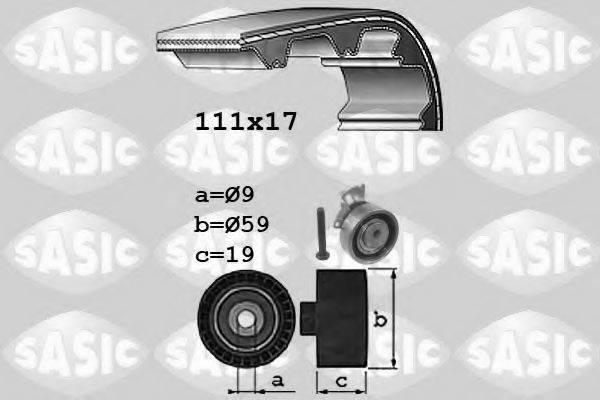 SASIC 1756061 Комплект ремня ГРМ