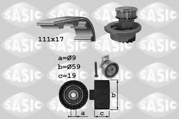 SASIC 3906071 Водяной насос + комплект зубчатого ремня