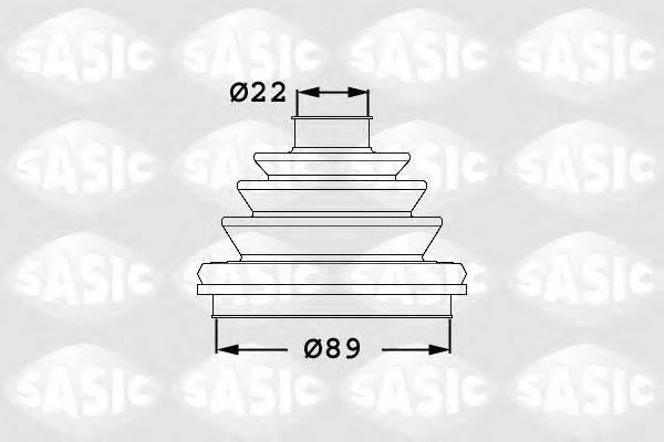 SASIC 1906047 Комплект пылника, приводной вал