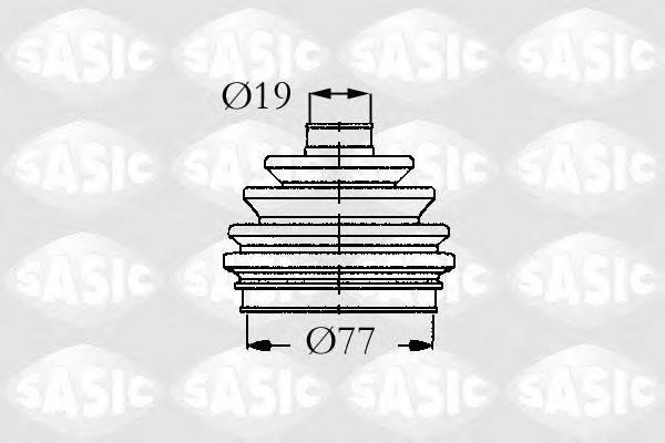 SASIC 9004679 Комплект пылника, приводной вал
