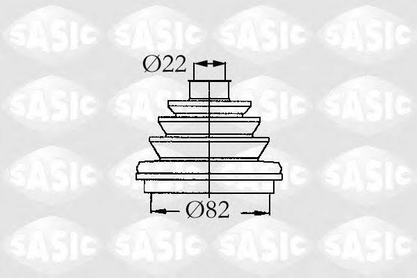 SASIC 9004683 Комплект пылника, приводной вал