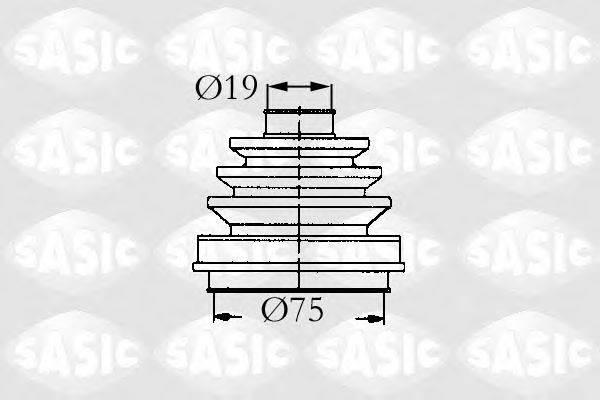 SASIC 9004685 Комплект пылника, приводной вал