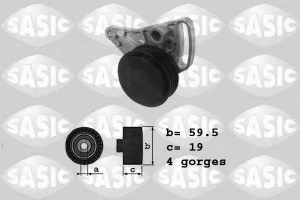 SASIC 1626048 Натяжитель ремня, клиновой зубча