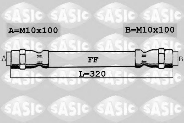 SASIC 6606180 Тормозной шланг