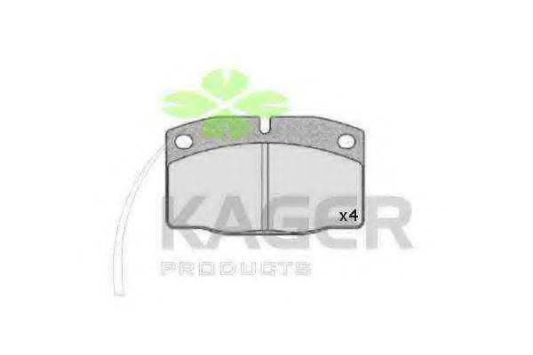 KAGER 350156 Комплект тормозных колодок, дисковый тормоз