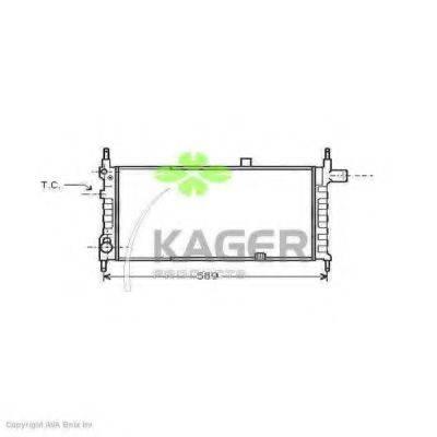 KAGER 310747 Радиатор, охлаждение двигателя