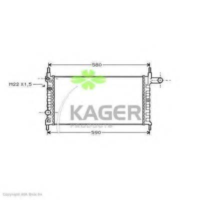 KAGER 310759 Радиатор, охлаждение двигателя