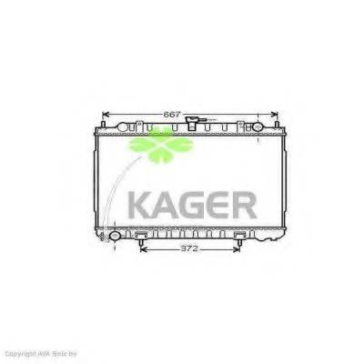 KAGER 313580 Радиатор, охлаждение двигателя