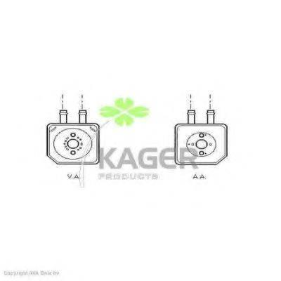 KAGER 313723 масляный радиатор, двигательное масло