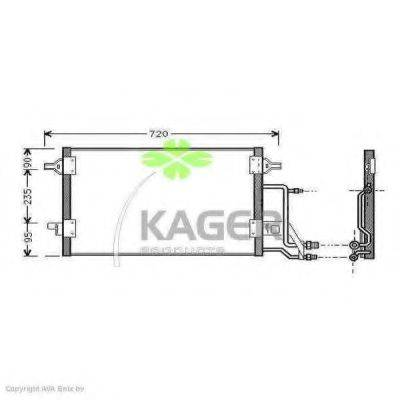 KAGER 945011 Конденсатор, кондиционер