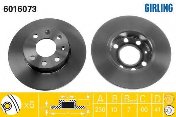 GIRLING 6016073 Тормозной диск