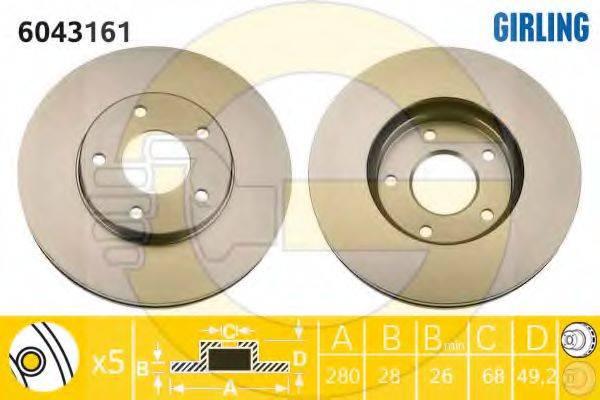 GIRLING 6043161 Тормозной диск
