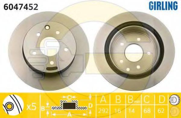 GIRLING 6047452 Тормозной диск