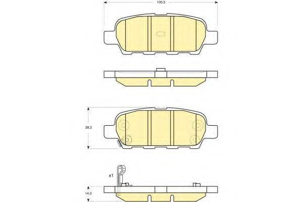 GIRLING 6132949 Комплект тормозных колодок, дисковый тормоз