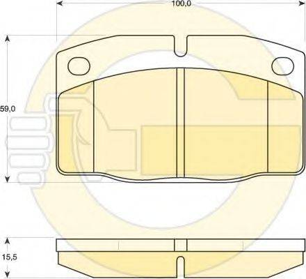 GIRLING 6410099 Комплект тормозов, дисковый тормозной механизм