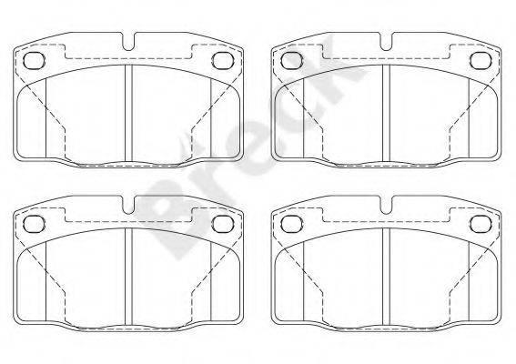 BRECK 209390070200 Комплект тормозных колодок, дисковый тормоз