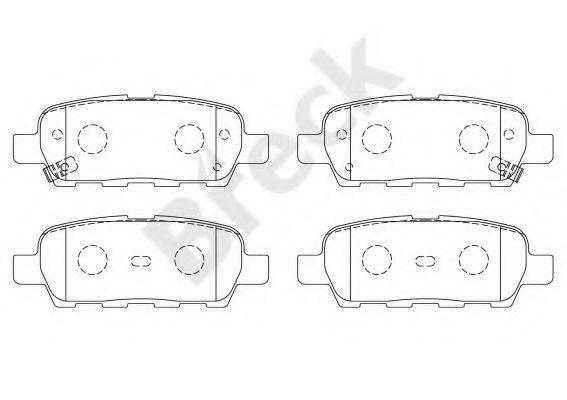 BRECK 238710070210 Комплект тормозных колодок, дисковый тормоз