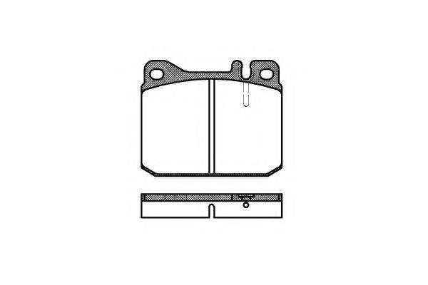 KAWE 001020 Комплект тормозных колодок, дисковый тормоз