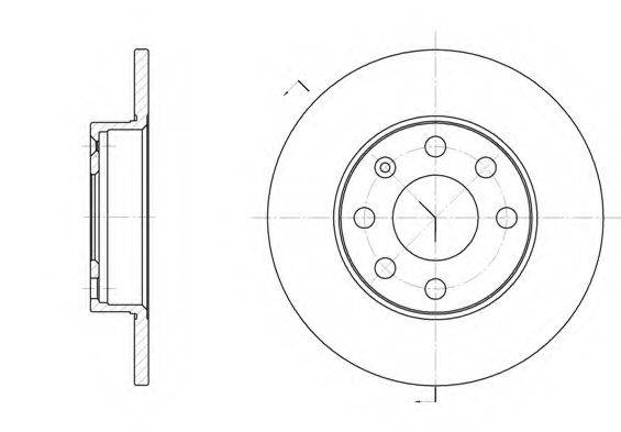 KAWE 605700 Тормозной диск