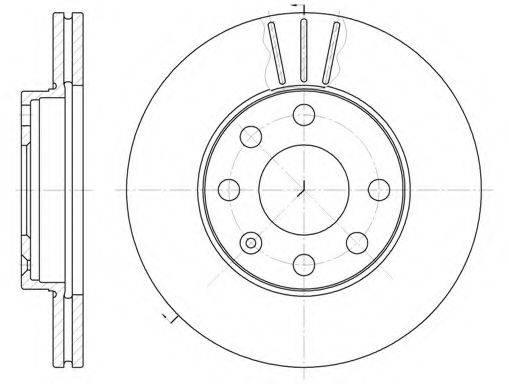 KAWE 606110 Тормозной диск