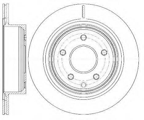 KAWE 699810 Тормозной диск