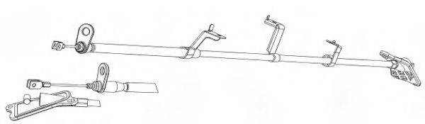 KAWE NI02177 Трос, стояночная тормозная система