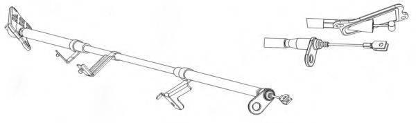 KAWE NI02178 Трос, стояночная тормозная система