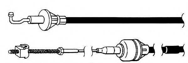 KAWE OP01108 Трос, управление сцеплением