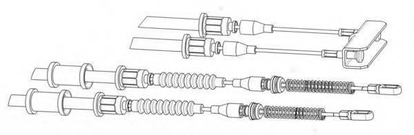 KAWE OP02142 Трос, стояночная тормозная система