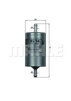 MAHLE ORIGINAL KL14 Топливный фильтр