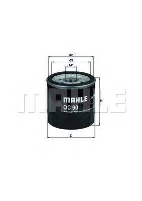 MAHLE ORIGINAL OC90 Масляный фильтр
