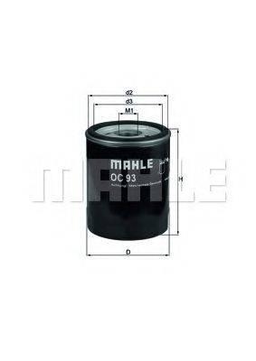 MAHLE ORIGINAL OC93 Масляный фильтр