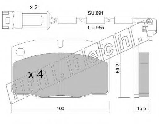 FRI.TECH. 0462W Комплект тормозных колодок, дисковый тормоз