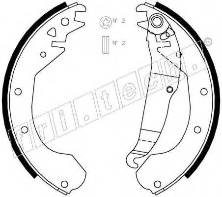 FRI.TECH. 1073163 Комплект тормозных колодок