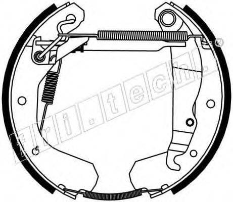 FRI.TECH. 16117 Комплект тормозных колодок