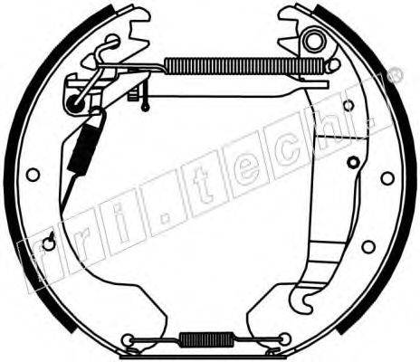 FRI.TECH. 16213 Комплект тормозных колодок