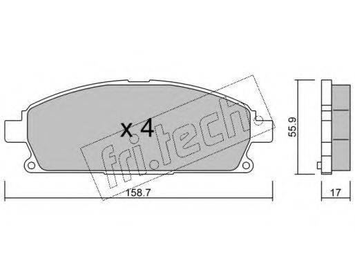 FRI.TECH. 4210 Комплект тормозных колодок, дисковый тормоз