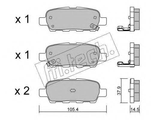 FRI.TECH. 6280 Комплект тормозных колодок, дисковый тормоз