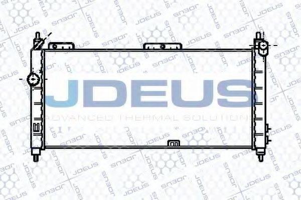 JDEUS 020M26 Радиатор, охлаждение двигателя