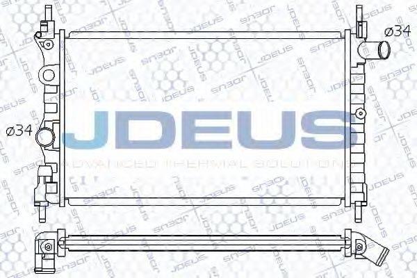 JDEUS 020M14 Радиатор, охлаждение двигателя