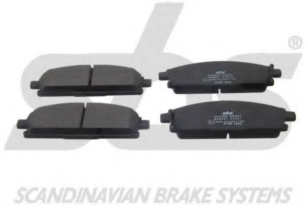 SBS 1501222256 Комплект тормозных колодок, дисковый тормоз