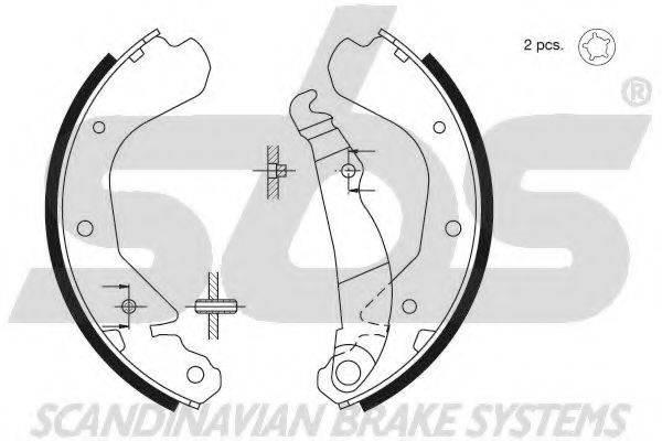 SBS 18492736409 Комплект тормозных колодок