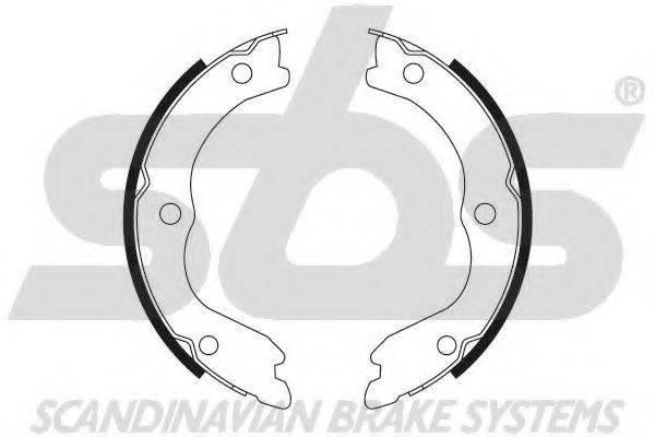 SBS 18492722719 Комплект тормозных колодок, стояночная тормозная система