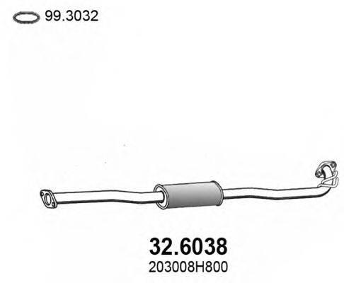ASSO 326038 Средний глушитель выхлопных газов