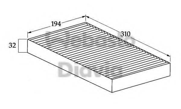 WEBASTO 82D0325039A Фильтр, воздух во внутренном пространстве