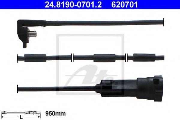 ATE 24819007012 Сигнализатор, износ тормозных колодок