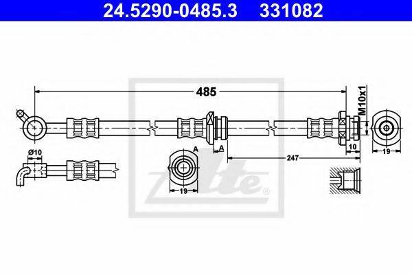 ATE 24529004853 Тормозной шланг
