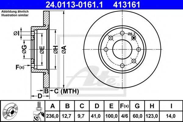 ATE 24011301611 Тормозной диск