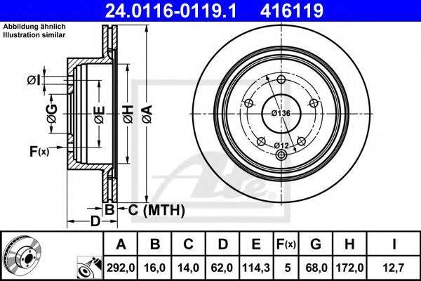 ATE 24011601191 Тормозной диск