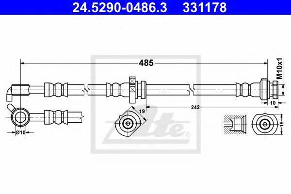 ATE 24529004863 Тормозной шланг